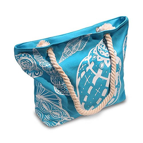 Beach Bag With Inner Zipper Pocket (Medium Size - - What Numbers Size Is In Medium