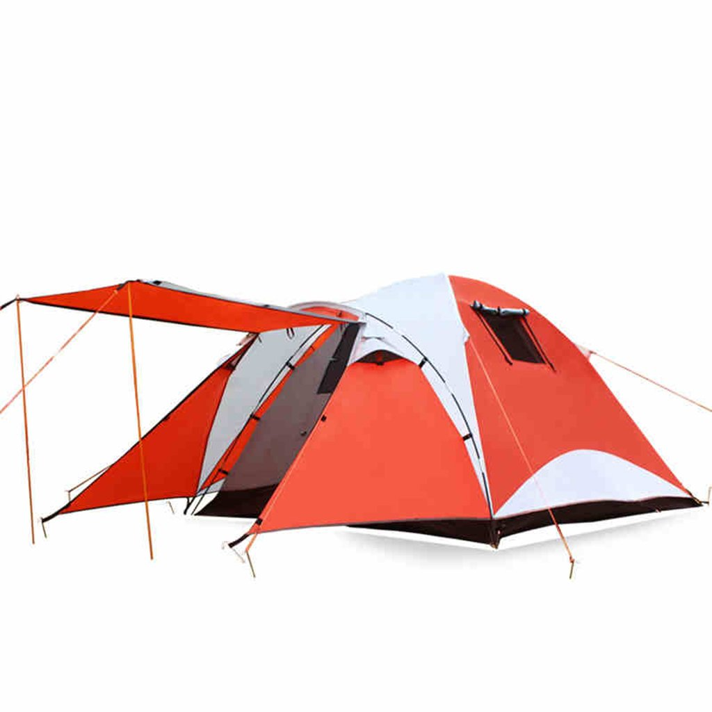 Zelt Outdoor Zelt A Schlafzimmer Ein Wohnzimmer Zelt Geeignet Für 3-4 Personen Zwei Zelte Camping Ausrüstung Kann Verhindern, Regen / Feuer