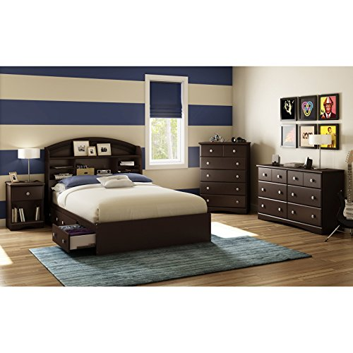 South-Shore-Morning-Dew-6-Drawer-Dresser-Chocolate