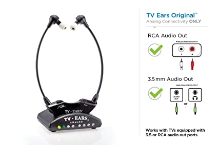 amazon com tv ears original wireless headsets system, tv hearingtv ears original wireless headsets system, tv hearing aid devices works best with analog tv\u0027s