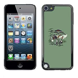 // PHONE CASE GIFT // Duro Estuche protector PC Cáscara Plástico Carcasa Funda Hard Protective Case for Apple iPod Touch 5 / Vampire Zombie Attack /