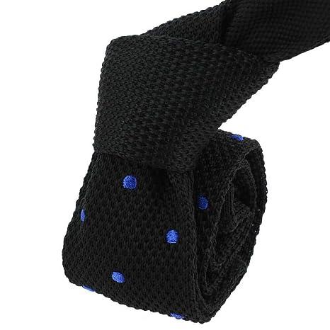 Clj Charles Le Jeune - Corbata de punto Negro y azul.: Amazon.es ...