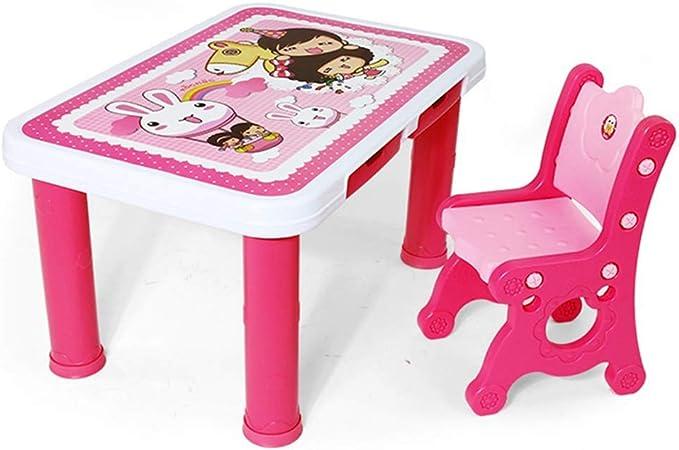Mesas Conjunto Mesa Y Silla para Niños Sillas De Jardín Infantil Escritorios Infantiles Mesa Y Taburete De Comedor para Niños (Color : Pink, Size : A): Amazon.es: Hogar