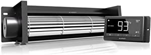 """AC Infinity AIRBLAZE T14, Universal Fireplace Blower Fan Kit 14"""" with Temperature and Speed Controller, for Lennox, Hearth Glo, Majestic, Rotom"""
