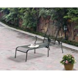Mainstays Jefferson Patio Wrought Iron Chaise Lounge with 5-position adjustable back, Black