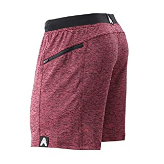 "Anthem Athletics Hyperflex 7"" Workout Training Gym Shorts - Iron Oxblood G2 - Medium"