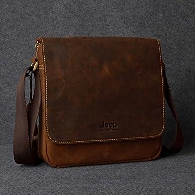 JEEP 本革 牛革 ショルダーバッグ レザー ヌメ革 メンズ 斜めがけ 鞄 ba92