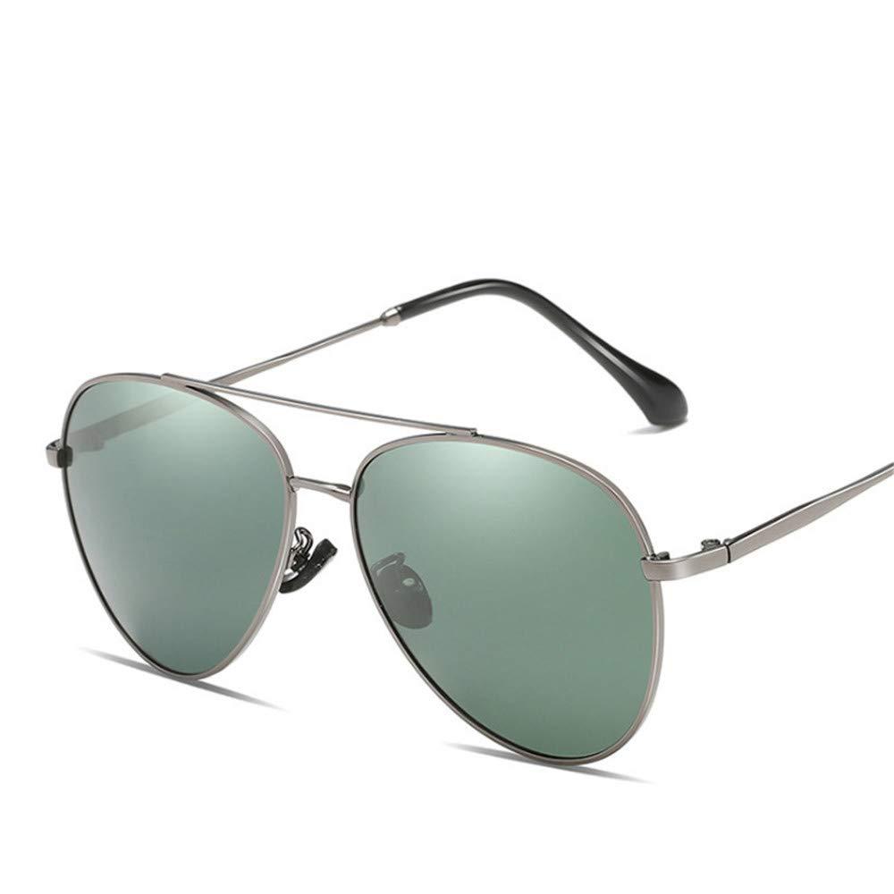 YFFS Men's and Women's Sunglasses Metal Sunglasses Driver Frog Mirror Sunglasses TAC Hd Polarized Lens (Color : Green)