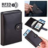 Genuine Premium Leather Wallet with RFID Blocking Card Holder Minimalist Vintage Style with ID pocket and Additional Pockets for Cash or More Cards, ID Theft Protection Series