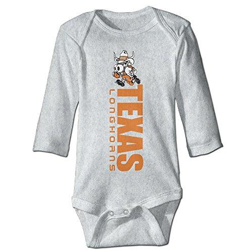 Newborn Babys Texas Longhorns College Long Sleeve Romper Bodysuit (Austin Powers Suit For Sale)
