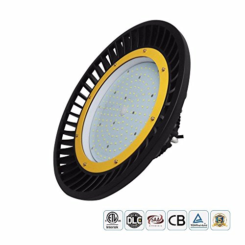 Docheer 200W UFO LED High Bay UFO Light (600W Eq.), 26000 Lumens, 5000K Super Bright Commercial Lighting Warehouse Retail Factory High Bay Lights,SMD 3030 LED MeanWell Driver, AC100-277V - The Hours Mall Plaza
