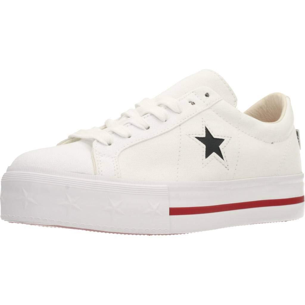 Converse ONE Star PLATF.Weiß PLATF.Weiß PLATF.Weiß 564030C, Damen Turnschuhe  2acaf8