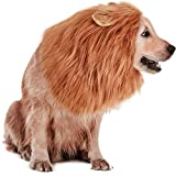 Rwm Dog Lion Mane Costume - Pet Wig Clothes for Halloween Party - Lion Wig for Medium to Large Sized Dogs Lion Mane Funny Dogs
