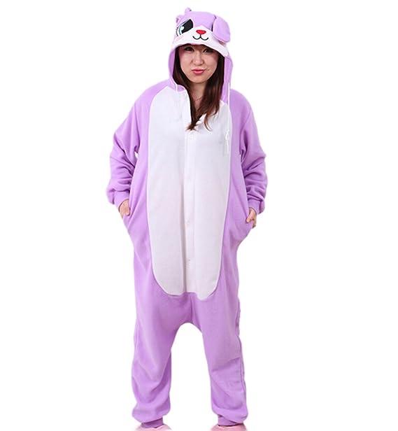 Fandecie Pijama Púrpura Conejo, Onesie Modelo Animales para adulto entre 1,60 y 1,75 m Kugurumi Unisex.: Amazon.es: Ropa y accesorios