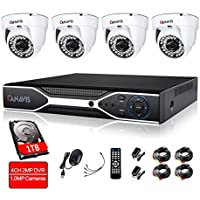 Surveillance Camera System, CANAVIS 4CH 720P 1.0 Megapixel CCTV HD Home Security Camera System Indoor Office Night Vision Cameras System with 1TB Hard Drive Disk