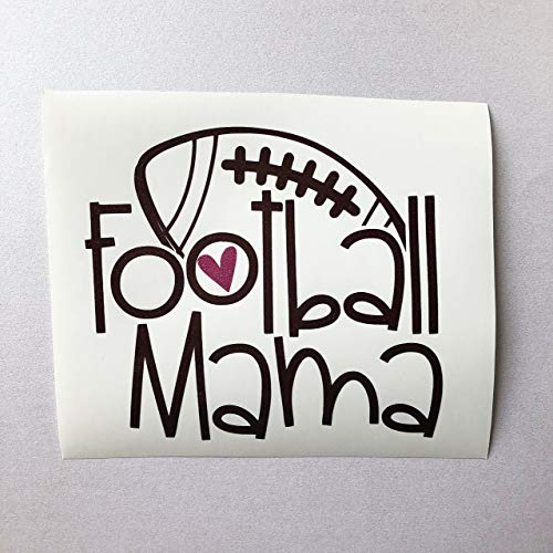 Glitter Football Mama Decal Sticker for Car, Yeti Cup, Tumbler, or Laptop - 3.5 inches