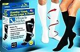Brand New Miracle Socks As Seen On TV Black Unisex Pain Relieving Socks