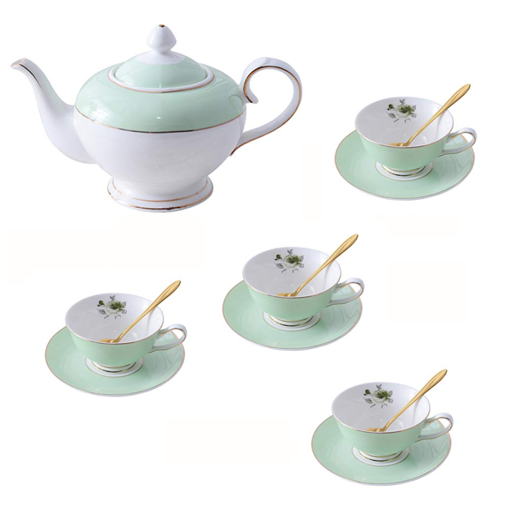 CSQ Coffee Cup Tea Set, Simple Ceramics Tea Set Meeting Room Hospitality Room Tea Set Capacity: 900ml Afternoon Tea (Color : A)