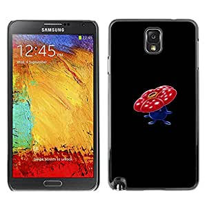 A-type Arte & diseño plástico duro Fundas Cover Cubre Hard Case Cover para Samsung Note 3 N9000 (Meter monstruo rojo de la flor de la seta)