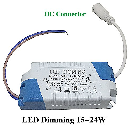 Bsod Dimmable (15-24)W Constant current high power LED driver Input AC 110-220V Output45-84V External Power supply led Ceiling lamp rectifier transformer ((15-24)W)
