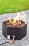 Silver Creek Mfg Stainless Steel Portable Propane Fire Pit