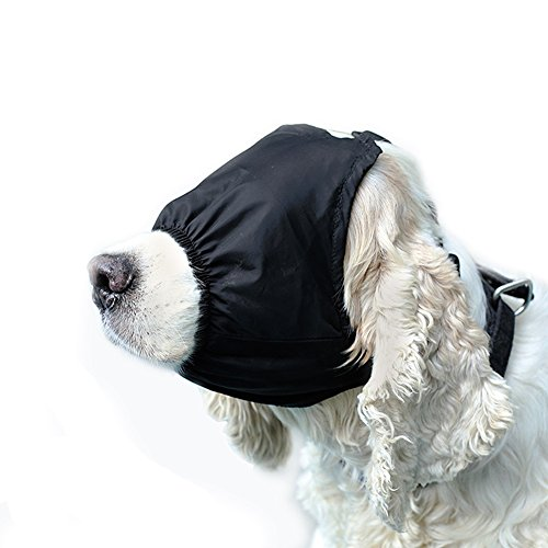 ap Eye Mask Nylon Shading Pet Anxiety Mask Muzzle for Grooming Anti Car Sickness (S) ()