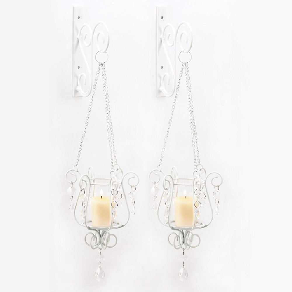 Amazon.com: Gifts U0026 Decor Bedazzling Pendant Candle Holder Wall Sconce  Decor Pair: Home U0026 Kitchen