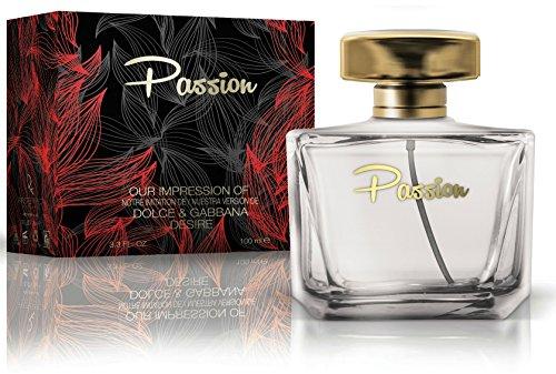 Passion Eau De Parfum Spray for Women, 3.3 Ounces 100 Ml - Impression of Dolce and - Gabana Dolci