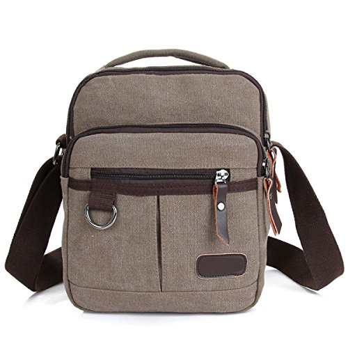 Uomini Vintage Canvas Messaggero Di Cartella Spalla Tote Lavorare All-Purpose Usa Bag,A-OneSize