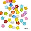Fairyjp きれい梅型ボタン レディースDIY手作り材料 手芸アクセサリーパーツ 子供おもちゃ アクセサリービーズ 200個 15mm