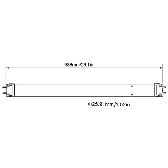 LE 10W 60CM LED Röhren, ersatz einer 18W Leuchtstoffröhre ...