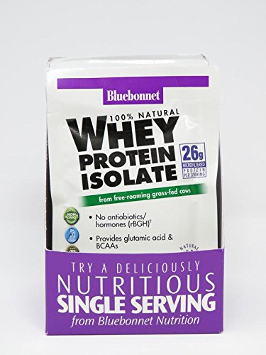 Bluebonnet Nutrition Whey Protein Isolate Powder, Mixed Berry Flavor, 26 g (8 Count) For Sale