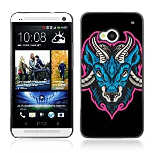Designer Depo Hard Protection Case for HTC One M7 / Cool Ancient Neon Monster