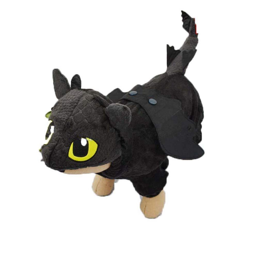 Black 4 Black 4 Dog Clothes Cotton Padded Coat Jacket Halloween Fly Dragon Dinosaur Pet Cat Dog Fleece Jumpsuit Hoodie
