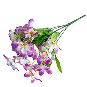 LamicAR6 Branches/1Pc Artificial Flower, Narcissus, Simulation,Office, Home Decoration - Purple 86