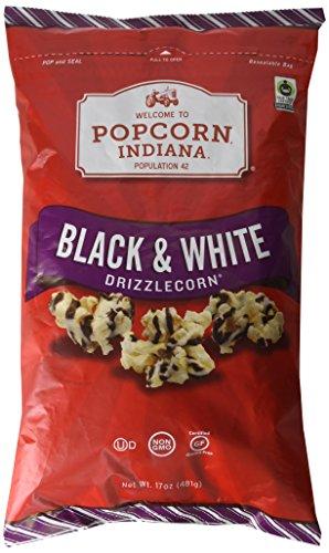 Popcorn Indiana Black and White Drizzlecorn 17 Oz -