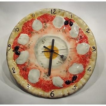 Wanduhr im Motiv Pizza und Spiegelei - Bassano Keramik ...