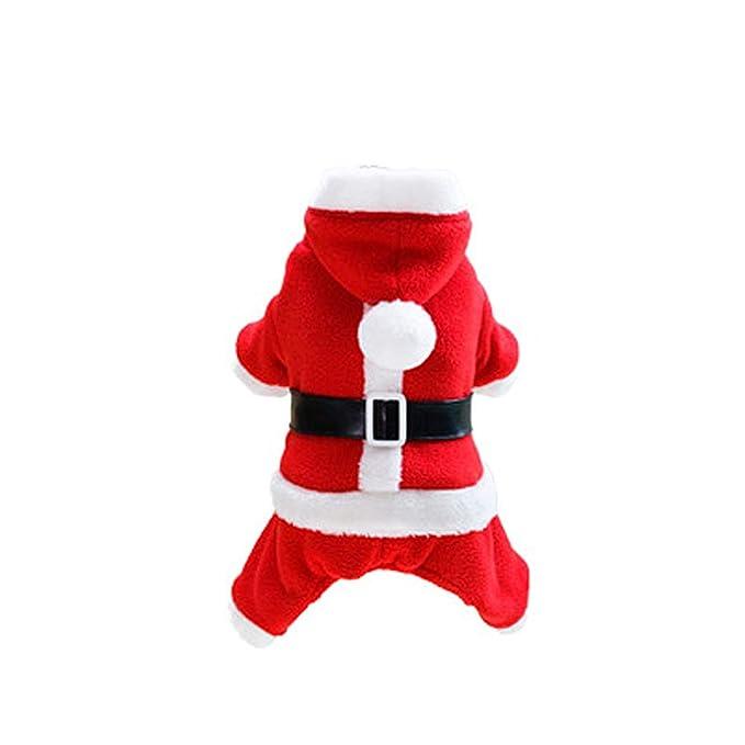 axusndas Perro Mascota Traje de Papá Noel con Sombrero de ...