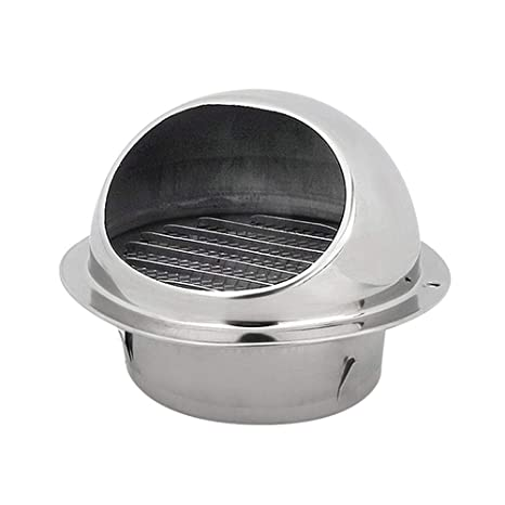Amazon.com: Hamkaw Stainless Steel Air Vents Round Type Bull ...