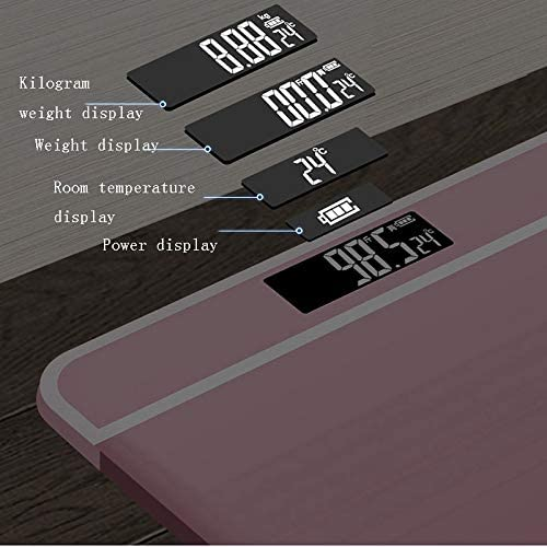 Intelligent Weight Scale, Digital Electronic Bathroom Scale 180KG Backlight Weight Management (pink) YGDH