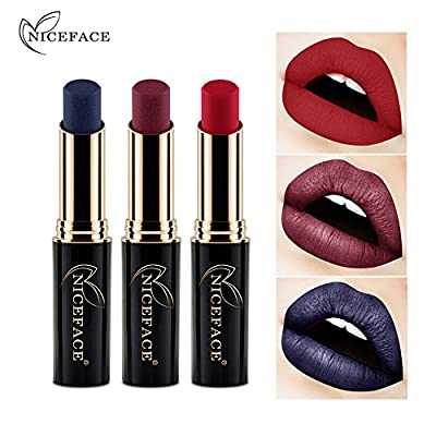 24 Colors Lip Glosses Professional Girls Cosmetics Lipstick Long-lasting for Women by TOPUNDER B