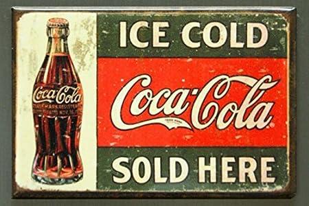 Coca-Cola - Imán para nevera, diseño de Coca-Cola de hielo frío ...