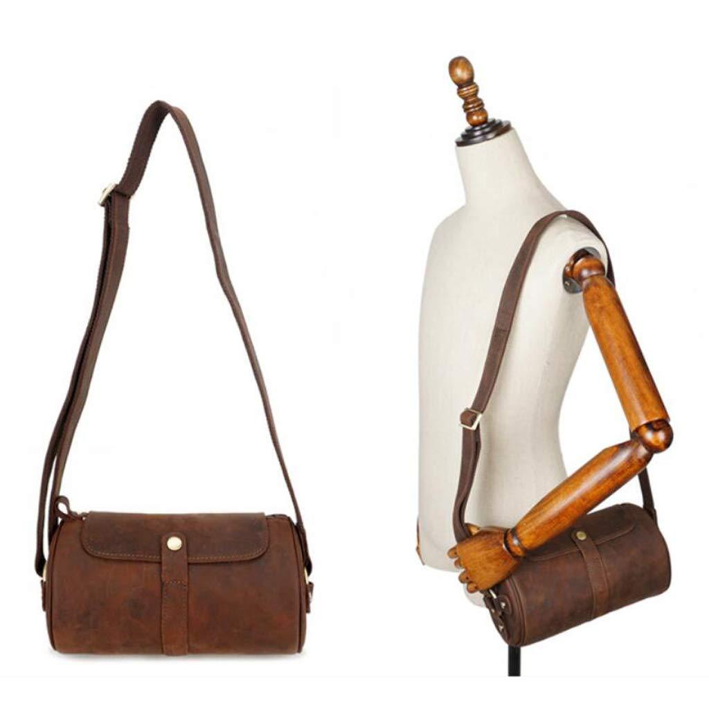 Mens Shoulder Messenger Vintage Elegant Briefcase For Daily School Work 10.235.515.51 Inch LWH)