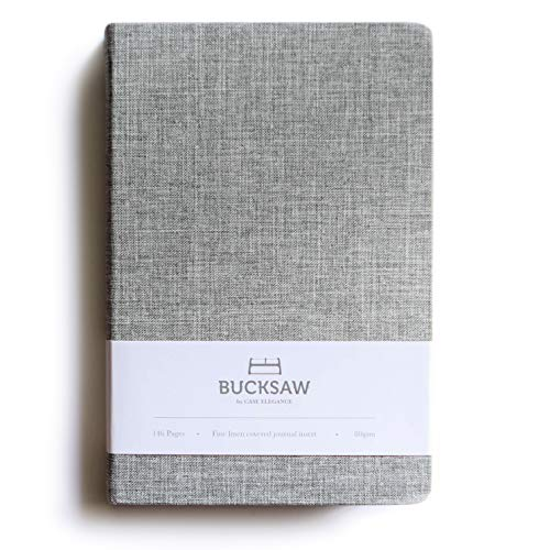 Fine Linen Covered Journal Ruled Notebook 8.4 x 5.7 in by Bucksaw ()