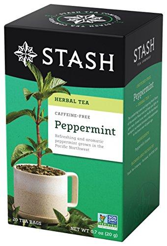 Pantry Tea Herbal (Stash Tea Peppermint Herbal Tea, 20 Tea Bags Per Box, Premium Herbal Tisane, Minty Refreshing Herbal Tea, Enjoy Hot or Iced)