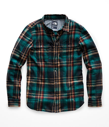 - The North Face NF0A3RVB Men's L/S Arroyo Flannel, Urban Navy Barrows Plaid - M