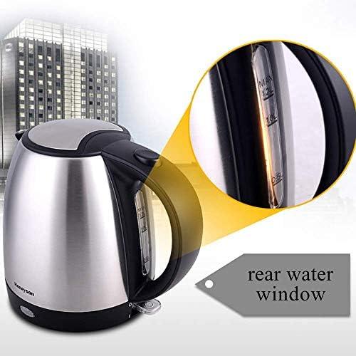 Wasserkocher1 2 l Öko-Wasserkocher mit hinterer WasserscheibeBPA-freier Akku-Wasserkocher mit Innendeckel und Boden aus EdelstahlAuto-Off- und Boil-Dry-Schutz1800 W.