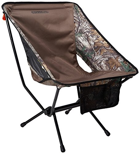 Compaclite Deluxe Steel Camping Portable Chair for Outdoor Hunting / Camping / Picnic / Hiking  / Bicycling / Fishing / BBQ / Beach / Patio with Carry Bag, Camo (Patio B&q)
