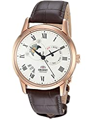 Orient Mens FET0T001W0 Sun and Moon Analog Display Japanese Automatic Brown Watch