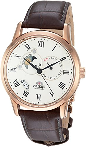 (Orient Men's FET0T001W0 Sun and Moon Analog Display Japanese Automatic Brown)